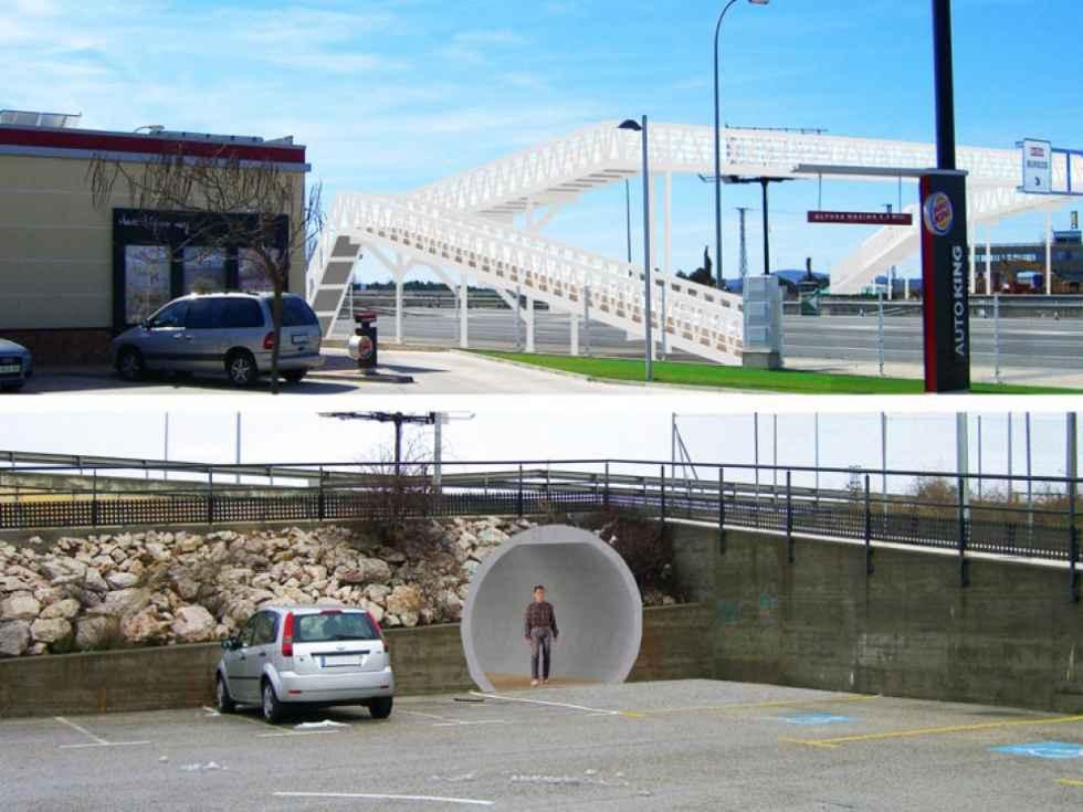 La pasarela peatonal se montará el 11 de enero