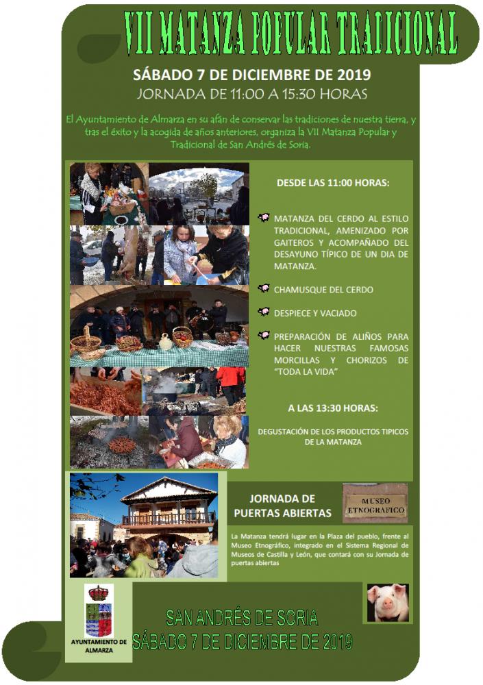 VII Matanza Popular tradicional, en San Andrés de Soria