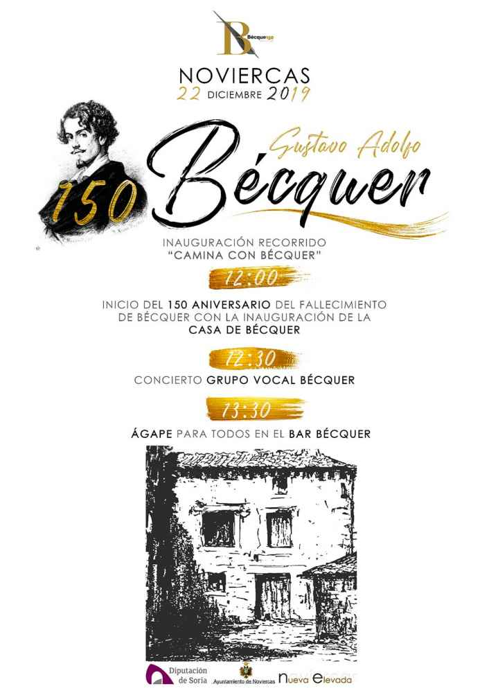 Noviercas abre la casa donde vivió Bécquer