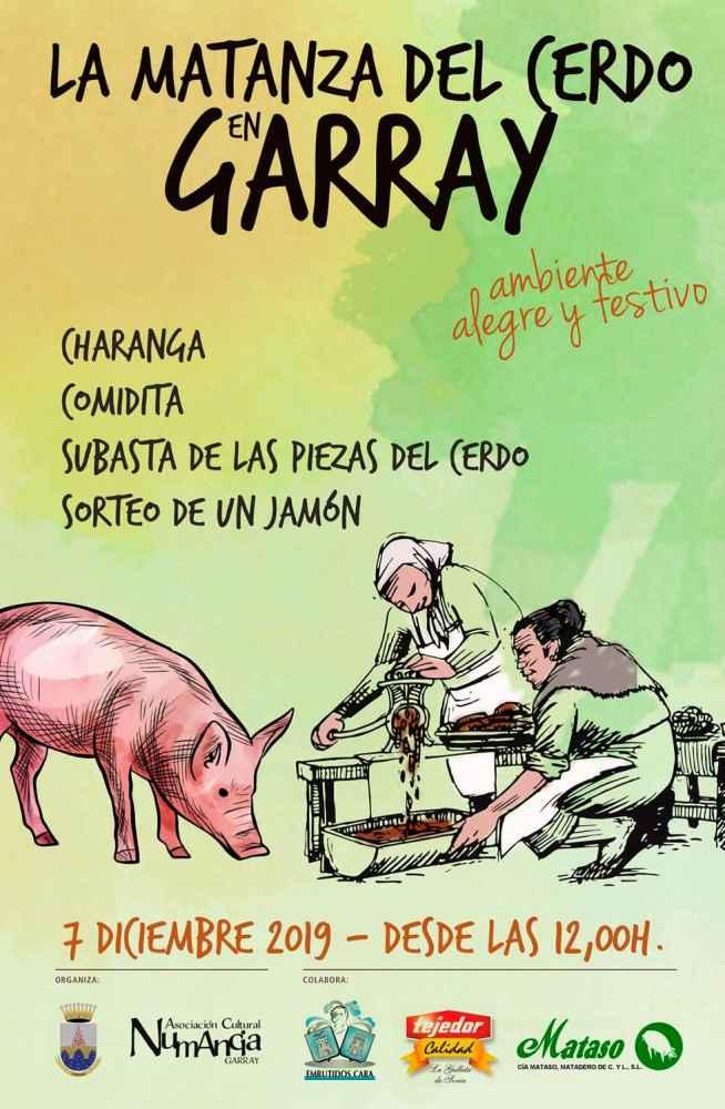 La matanza del cerdo se cita en Garray