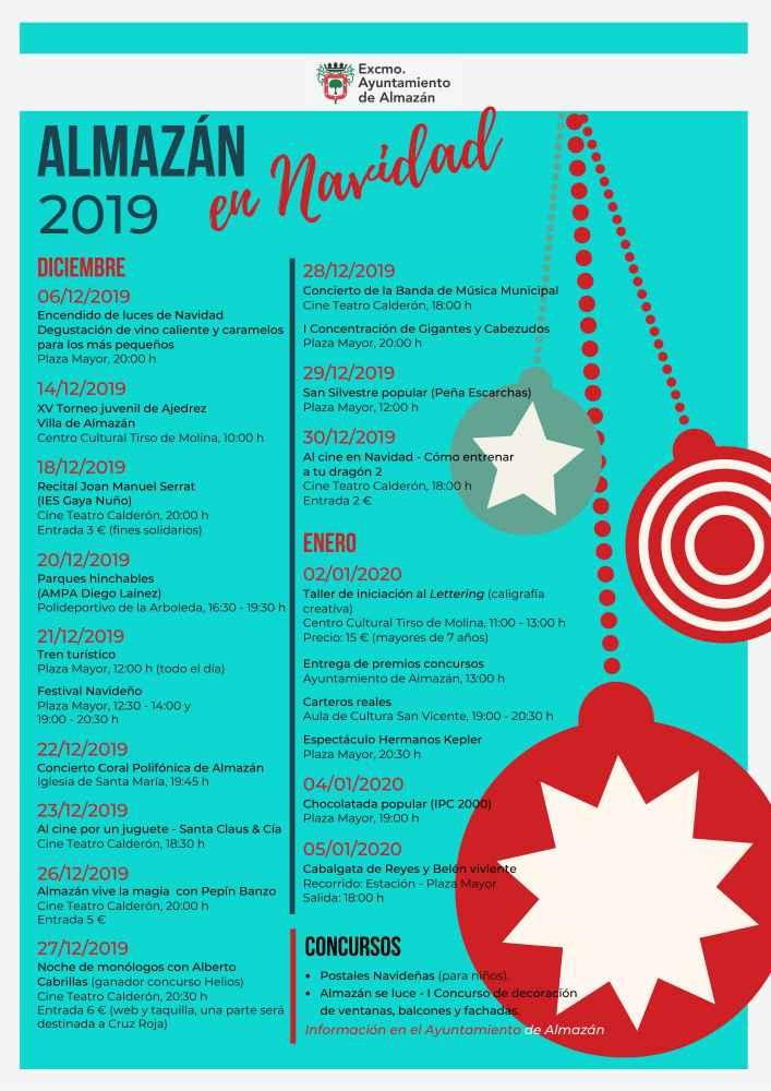 Programa para las fiestas navideñas en Almazán