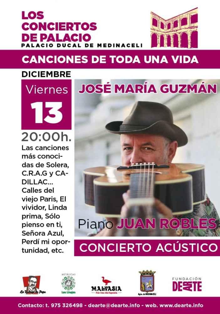 Concierto de José María Guzmán, de Cadillac, en Medinaceli