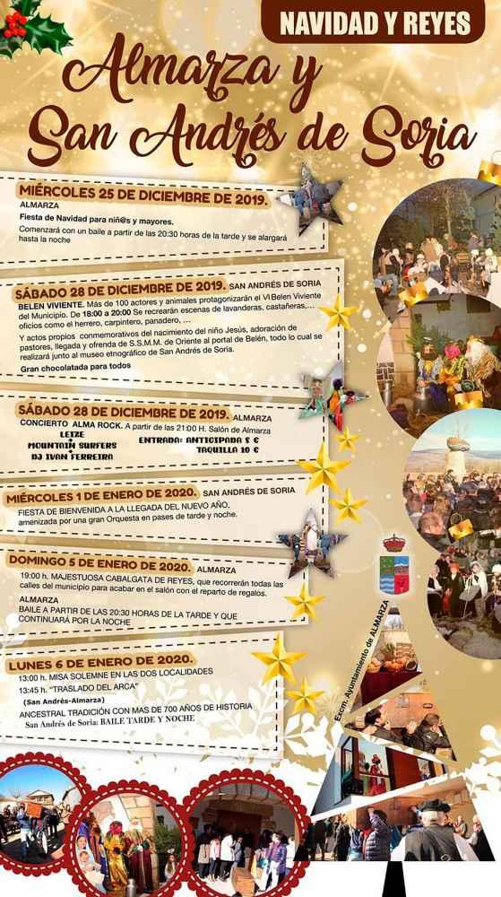 Almarza y San Andrés de Soria preparan la Navidad