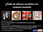 Taller infantil de adornos navideños con material reciclado