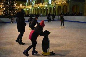 Pista de hielo en Soria - fotos