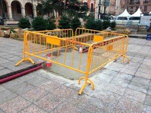"""El PP critica las rampas """"chapuceras"""" en la plaza Mayor"""