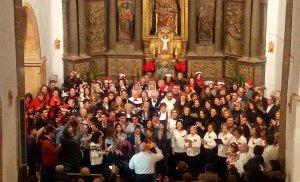 Éxito del encuentro de Villancicos en Matalebreras