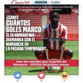 Gana dos entradas para ver el Numancia-Girona
