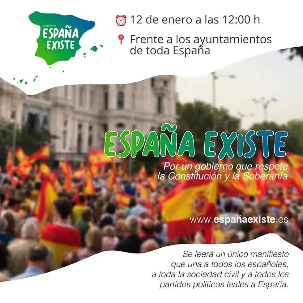 """Vox convoca """"España existe"""" a las puertas de los ayuntamientos"""