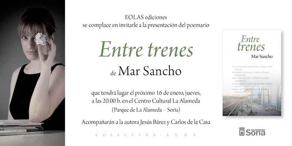 """Mar Sancho presenta su último libro """"Entre trenes"""""""