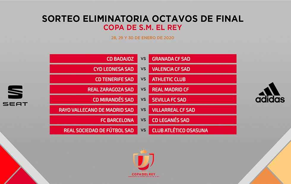 El Zaragoza se enfrentará al Real Madrid en la Copa