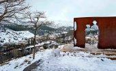El temporal Gloria llega con nieve a Soria