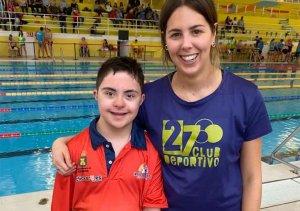 Diego Romero debuta con triunfos en natación adaptada