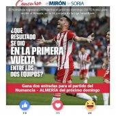 Gana dos entradas para ver el Numancia-Almería