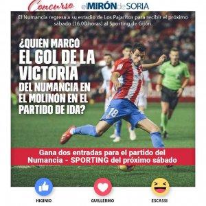Gana dos entradas para ver el Numancia-Sporting