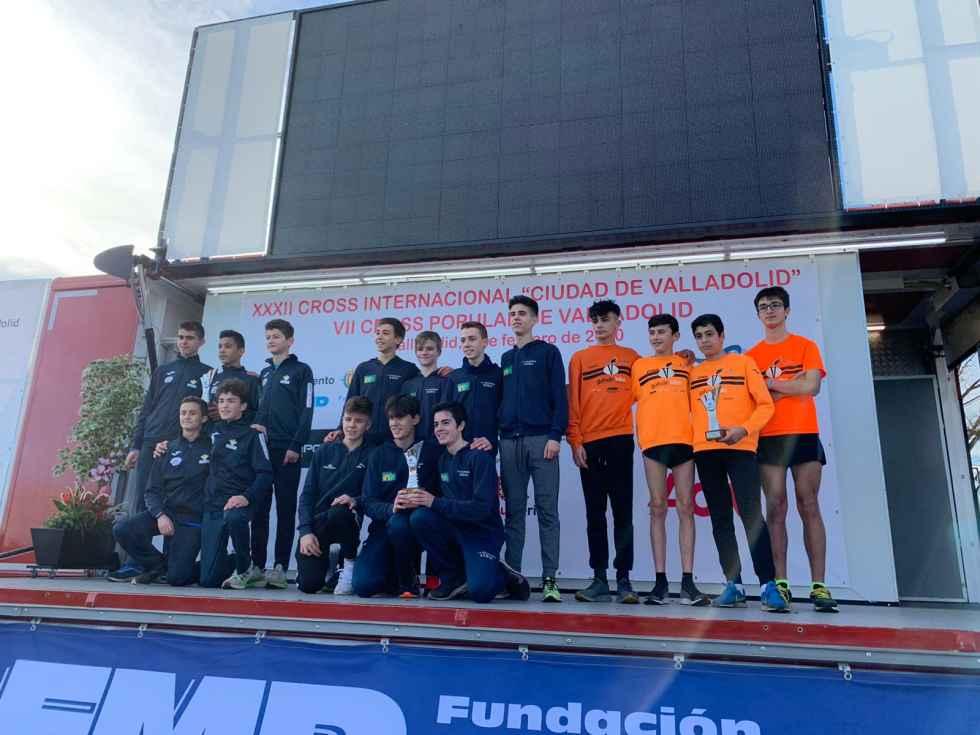 La cantera atlética soriana destaca en Cross de Valladolid