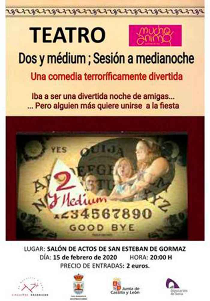 """""""Dos y médium"""", una divertida comedia en San Esteban"""
