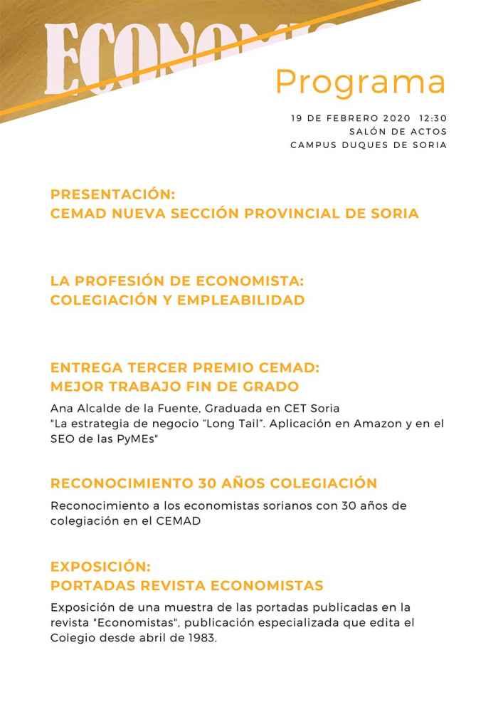 Presentación de la sección provincial del Colegio de Economistas