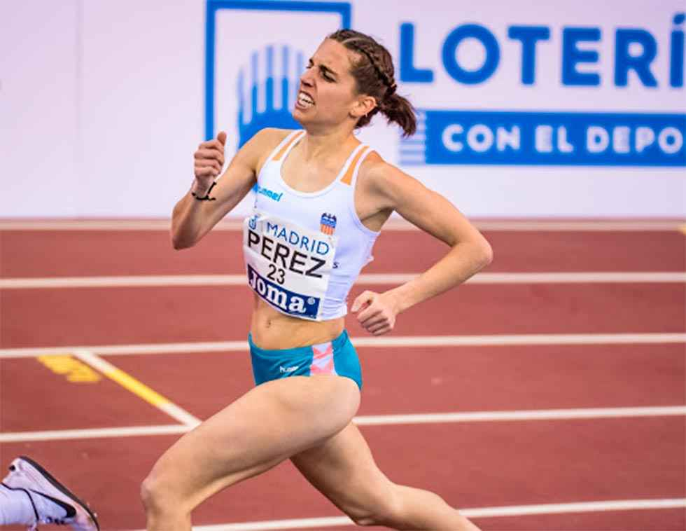 Marta Pérez, en el World Athletics Indoor Tour de Madrid