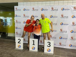 Diego Romero sube de nivel en natación adaptada