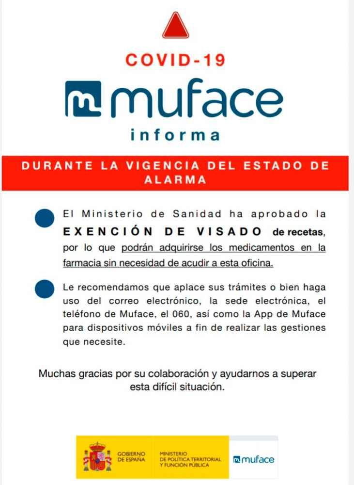 Exención de visados a los mutualistas de Muface