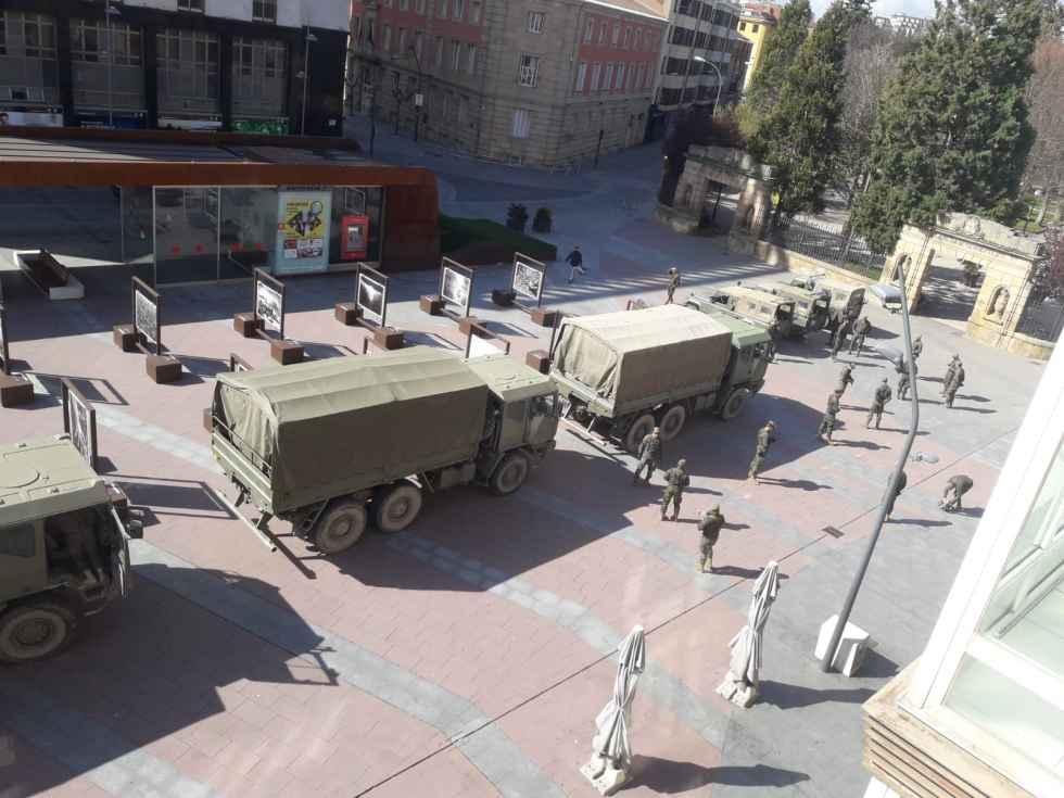 El Ejército se despliega en Soria para garantizar Estado de Alerta