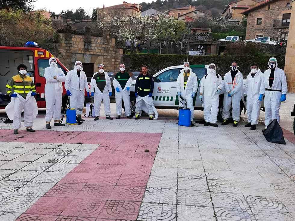 La Junta suma tres equipos de desinfección con voluntarios