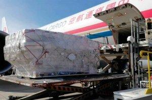 Seis toneladas de material de protección, desde China