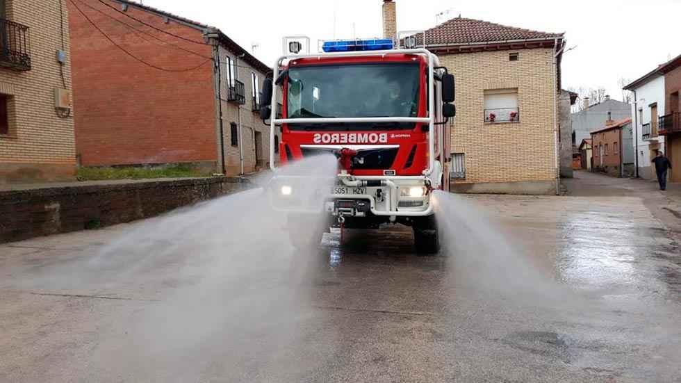 Diputación crea un punto de desinfección de vehículos sanitarios