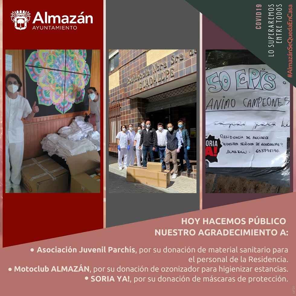 MotoClub Almazán dona maquina de ozono a residencia