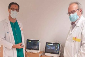 La solidaridad dota de 13 equipos de monitorización al hospital