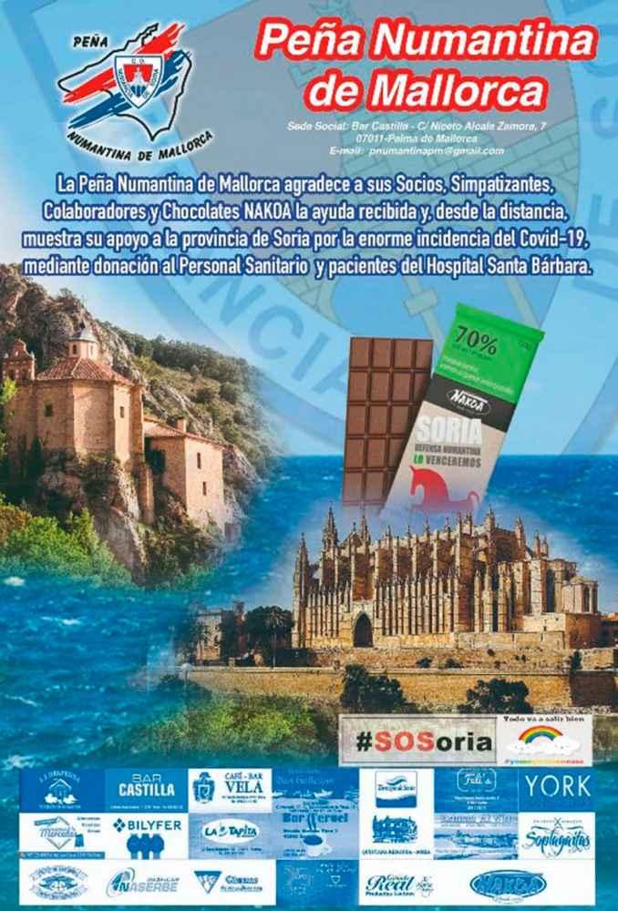 La Peña Numantina en Mallorca colabora con hospital