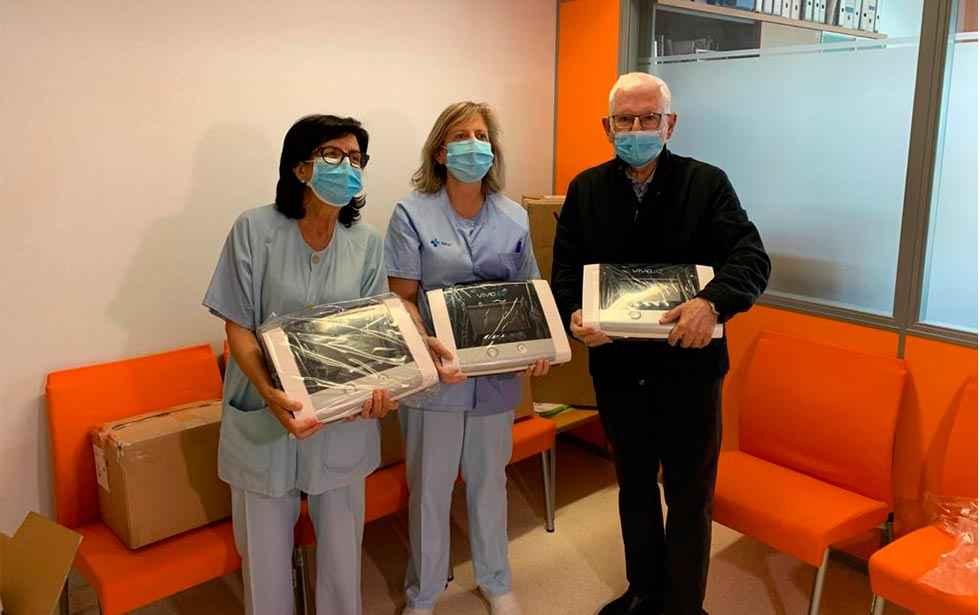 Caja Rural completa la entrega de diez respiradores