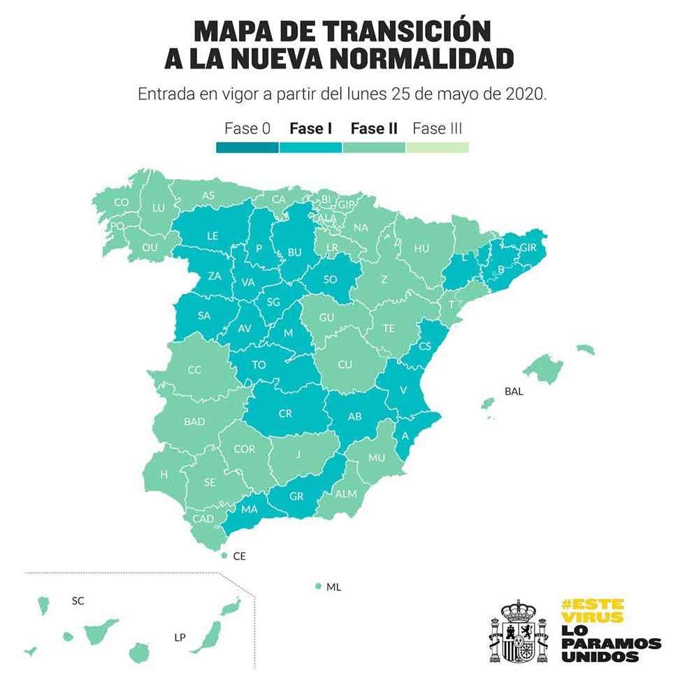 Toda España al menos en fase 1, Soria incluida