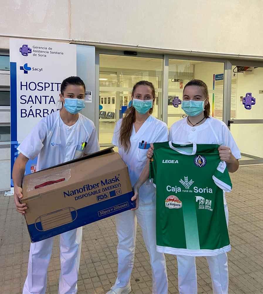 El C.D. San José dona mil mascarillas FPP2