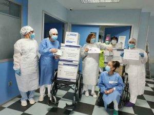Carabantes dona material sanitario al hospital