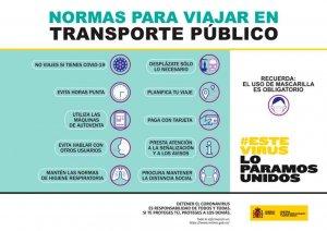 Recomendaciones y medidas para usuarios del transporte público