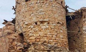 Obras de consolidación en atalaya de Nograles