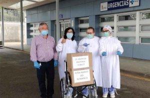 Amigos del Numancia dona más material al hospital