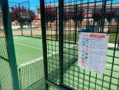 Reapertura de las pistas de pádel y tenis