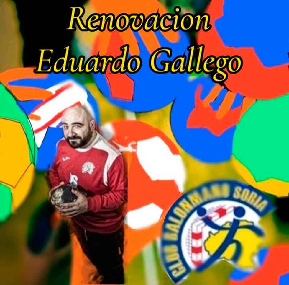Eduardo Gallego, segundo entrenador del B.M. Soria