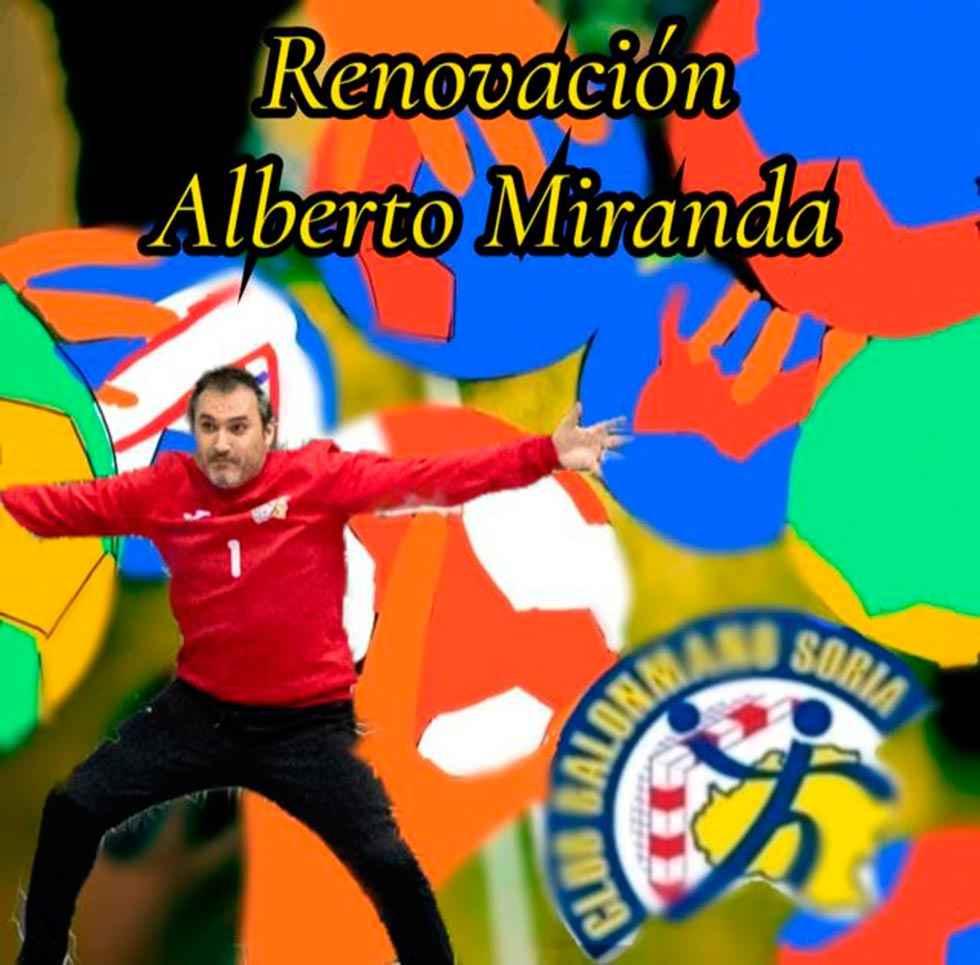 Alberto Miranda renueva por C.B. Soria