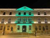 Diputación ilumina su fachada por los afectados por ELA