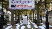 Antigona se manifiesta contra la violencia de género