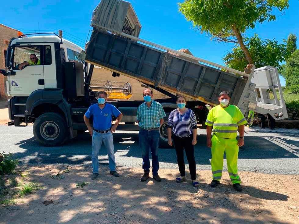 Avanzan las obras en la carretera provincial de Alpansaque