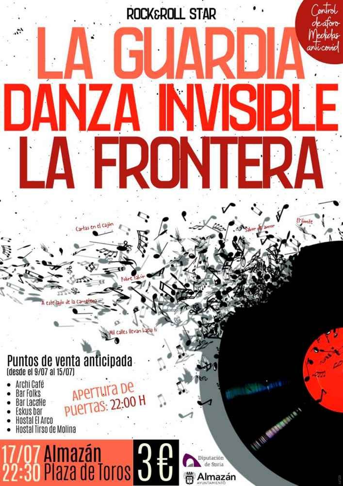 Suspendido el concierto de rock en Almazán