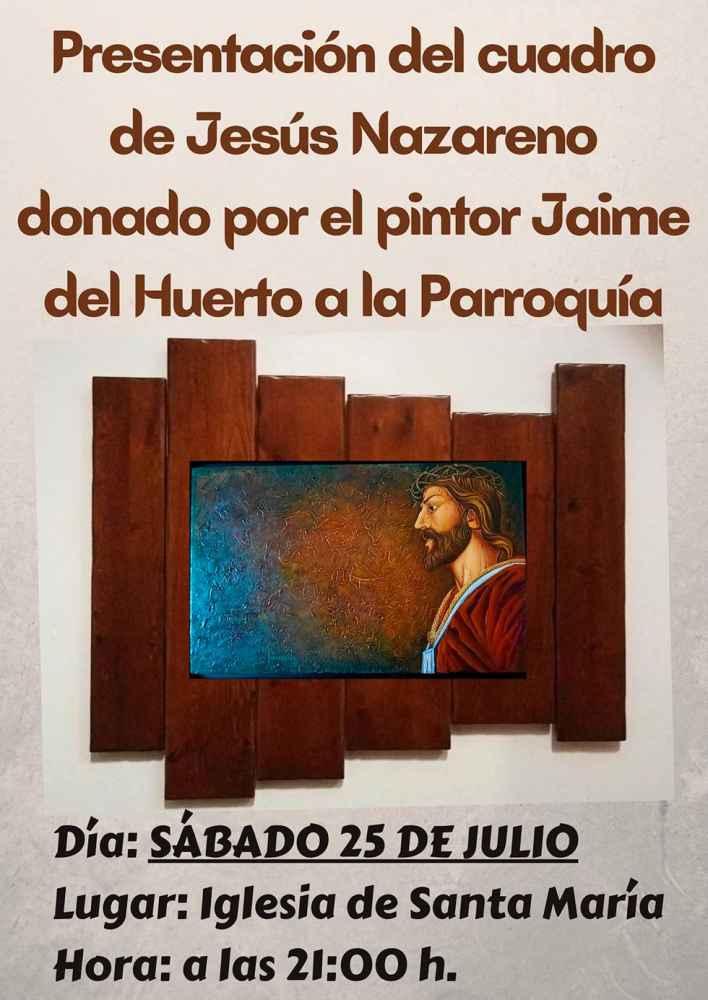 Presentación de cuadro dedicado a Jesús Nazareno