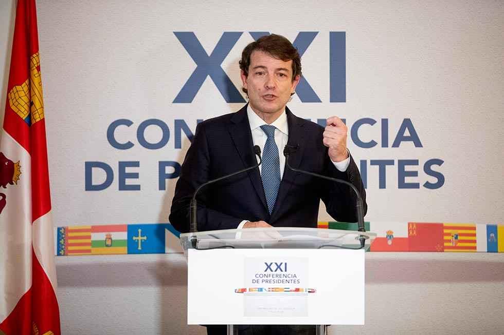 Mañueco reclama nuevo fondo para garantizar servicios públicos
