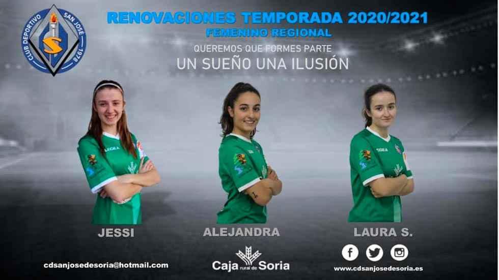 Dos refuerzos para el equipo femenino del C.D. San José