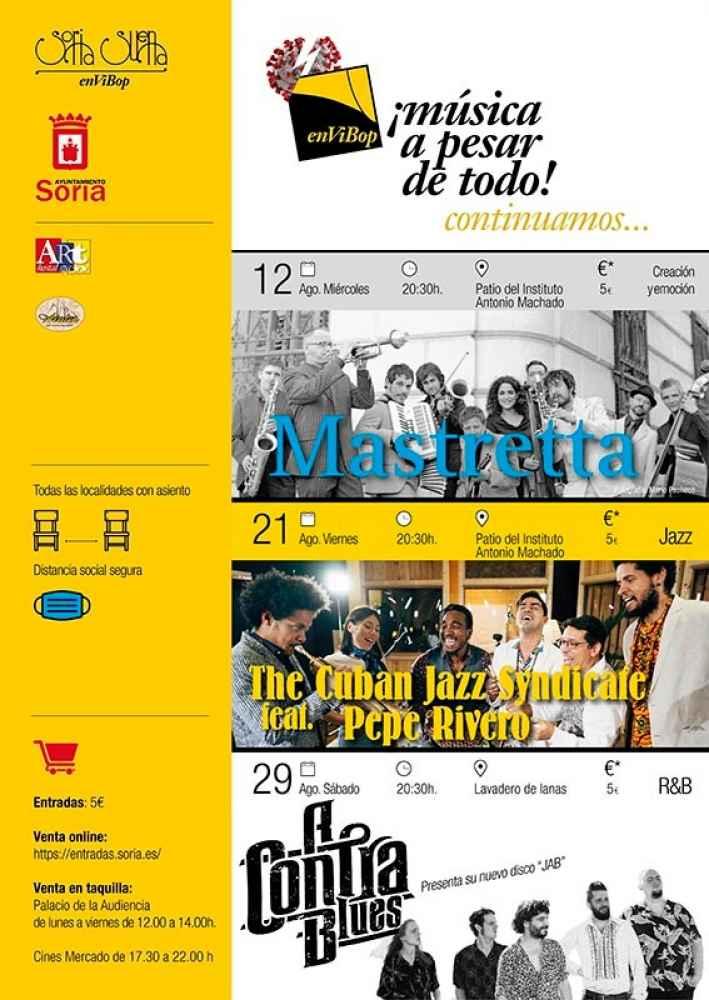 EnViBop programa tres conciertos en agosto